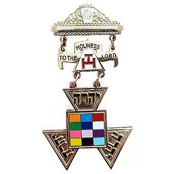 Arc royal passé grand prêtre php York rite médaille bijou de poitrine