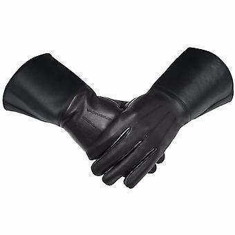 Frimurarnas piper trummis läder gatlopp / handskar svart mjukt läder riddare templar