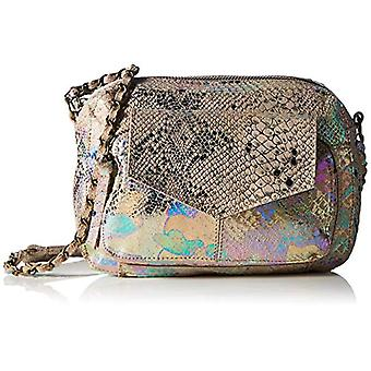 PIECES PCNOLLE LEATHER CROSS BODY FC, Women's Folder Bag, Silver Colour/Aop: Rainbow Snake, One Size Fits All