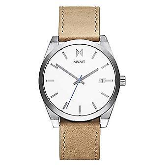 MVMT Analoog Horloge Herenkwarts met Kalfsleer Band 28000040-D