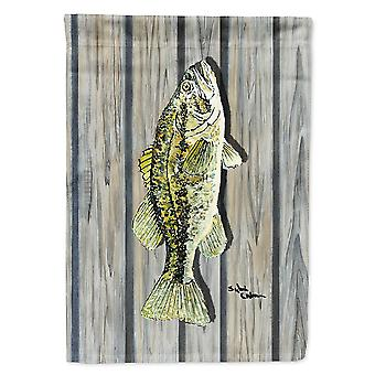 Caroline's Treasures 8493Chf Fish Bass Flag Canvas, Grande, Multicolore