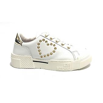 Shoes Women's Love Moschino Sneaker White Leather Ds21mo15 Ja15425