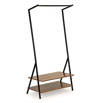 Clothes rack with 2 shelves 80.5 x 40 x 158.5 cm – Steel