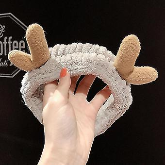 Wash Face Hair Holder Hairbands Soft Warm Coral Fleece Girls Turban Fashion Hair Accessories(7#)