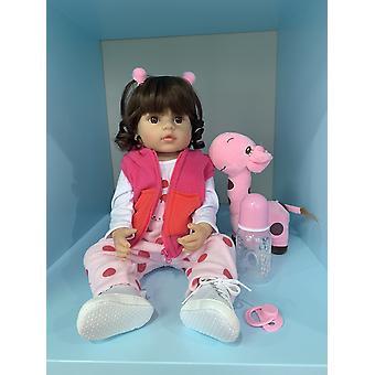55Cm teljes test szilikon bebe baba rebon kisgyermek lány hercegnő játék birhtday ajándék lányok playmate likfelike puha tapintású