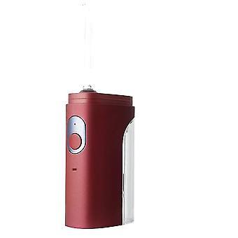 Limpiador dental eléctrico portátil, hilo dental de agua, mini máquina profesional de limpieza de dientes (rojo)