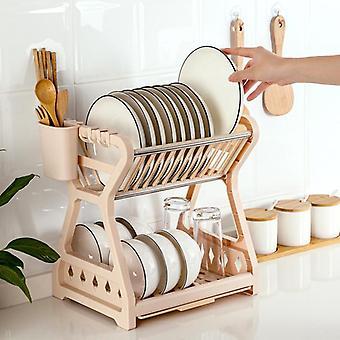 Household Dish Drying Rack Chopsticks Double Kitchen Tools Kitchen Supplies Racks & Holders