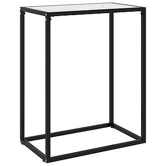 vidaXL コンソール テーブル白 60x35x75 cm の強化ガラス