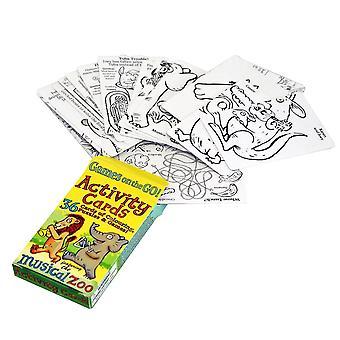 Pack de tarjetas de actividades del zoológico musical para niños