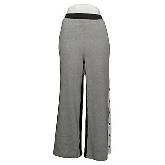 MIND BODY LOVE by Peace Love World Women's Pants Side Snap Gray A392760