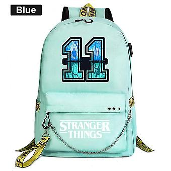 Stranger Things Youth Schoolbag Leisure Ribbon Backpackgreen
