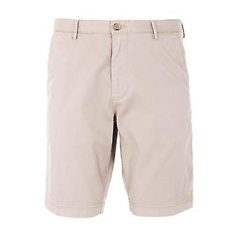BOSS Stretch Cotton Twill Slim Fit Bermuda Shorts - Beige
