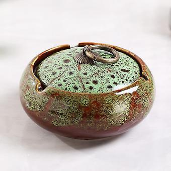 Ceramic Ashtray With Lid Creative Ash Tray Cigar Portable Ashtray