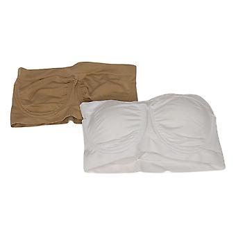 Rhonda Shear Soutien-gorge pour femme Reg 2-pack Underwire Bandeau White 659815