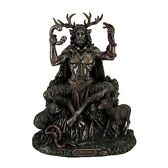 Keltiske Cernunnos horn Gud og underverden statuen 9 tommer