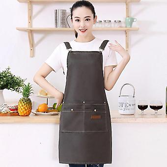 Aprons For Women Men With Pockets Bbq Kitchen Chef Cooking Canvas Art Stylist