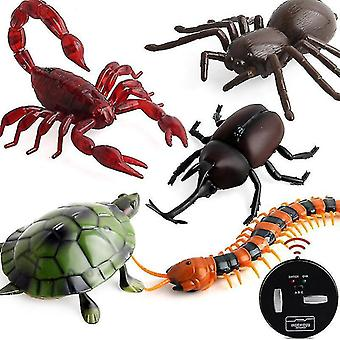 Robotic toys robotic insect prank toys trick electronic pet rc simulation scorpion beetle remote control smart