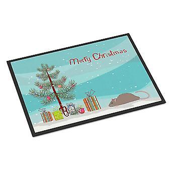 Door mats satin rat merry christmas indoor or outdoor mat 18x27