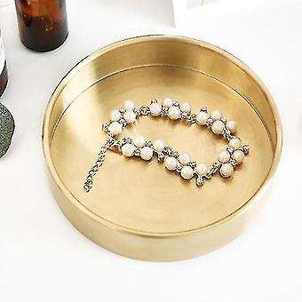 Decorative trays pure round brass metal storage and organising trays cjqhs044-10cm-2