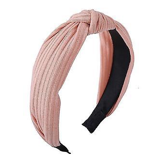 Effen kleuren satijn geknoopte haarbanden (Rose Pink)