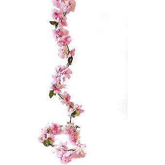 Sztuczny kwiat wiśni winorośli wiszące roślin sztuczne kwiat wiśni wieniec ciemny różowy