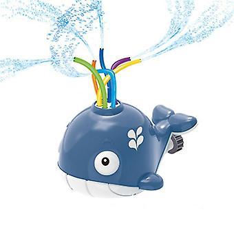 Kinder Sprinkler, Kinder Spielzeug Sprinkler, Wal Wasser Sprinkler Spielzeug, Kinder Sprinkler Spielzeug, Wal Spielzeug für Pool, Garten, Rasen, Outdoor Spiel Grau