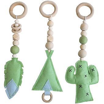 Baby Spielzeug Stoff Kunst Anhänger Spielzeug, Fitnessraum Kinderzimmer Dekoration 3 Stück (b)