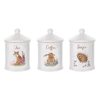 Koninklijke Worcester Wrendale Designs koffie & suiker vaten