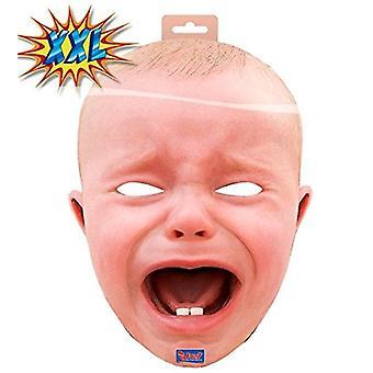 Baby maske XXL gråtende baby maske Halloween Carnival