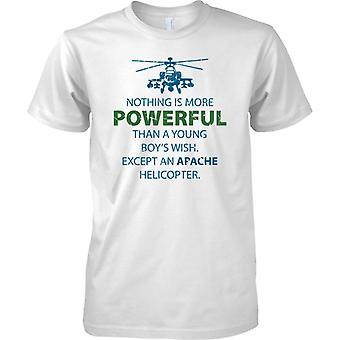 Nichts ist mächtiger als eine Apache-Kampfhubschrauber - Kinder T Shirt