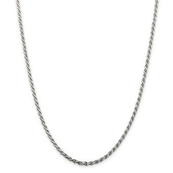 925 Sterling Zilver Solid Polished Sparkle Cut Lobster Claw Closure 2.75mm D Cut Rope Chain Anklet 9 Inch Lobster Claw J