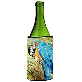 Blaue Papageien Wein Flasche Getränk Isolator Hugger