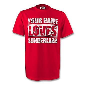 Your Name Loves Sunderland T-shirt (red) - Kids