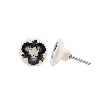 CGB Giftware Purple Grape Ceramic Drawer Handle