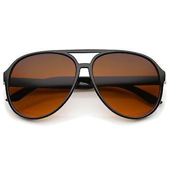 Retro store blå blokering linse Aviator solbriller 60mm