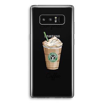 Samsung Galaxy Note 8 gjennomsiktig sak (myk) - men første kaffe