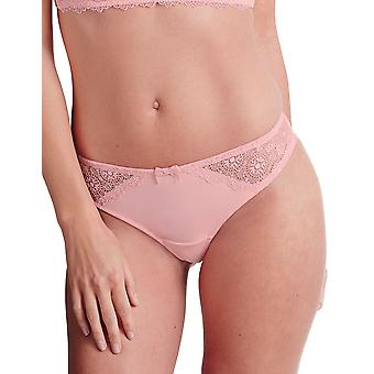 Guy de France 810867-181-008 Women's Pink Solid Colour Lace Knickers Panty Brief