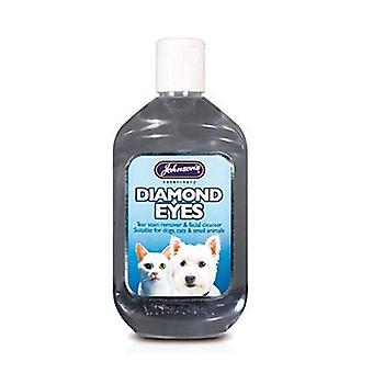 Johnsons diamant øyne rive flekker Remover for kattene & hundene 250ml 350g - 6 pack