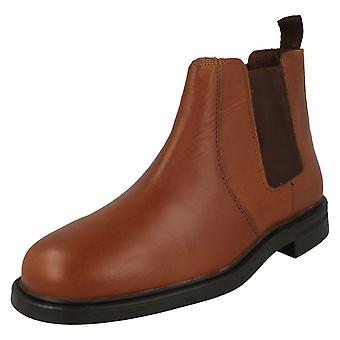 Mens Oaktrak Pull On Ankle Boots Walton - Chestnut Leather - UK Size 11 - EU Size 45 - US Size 12