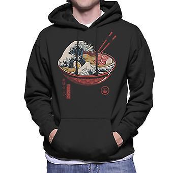 Große Welle Ramen Herren Sweatshirt mit Kapuze
