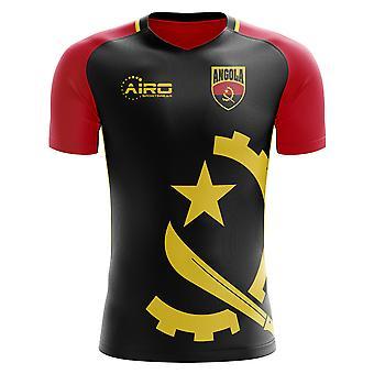 2020-2021 أنغولا مفهوم المنزل لكرة القدم قميص - الكبار طويلة الأكمام