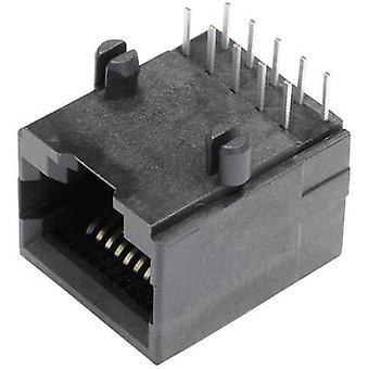 Modulaarinen asennettu socket anturikaapeleiden pistorasia, horisontaaliset mount nastojen määrä: 10P10C SS64100-018F musta BEL Stewart liittimet SS64100-018F 1 PCs()