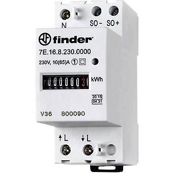 Finder 7E. 16.8.230.0010 sähkö mittari (AC) mekaaninen 65 Keski-hyväksytty: kyllä 1 kpl (s)
