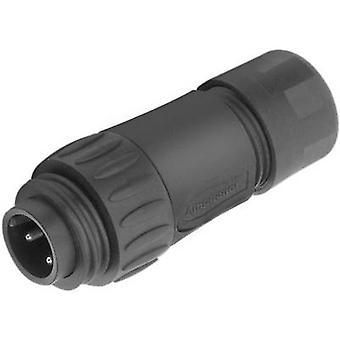 أمفينول C016 30 ح 006 110 12 رصاصة موصل التوصيل، سلسلة مستقيمة (موصلات): C016 مجموع دبابيس: 6 + PE 1 pc(s)