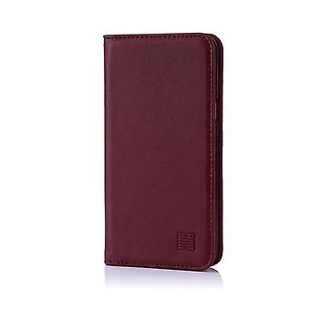 32nd Classic Real Leather Wallet for Samsung Galaxy J3 (2017) J330F - Burgundy