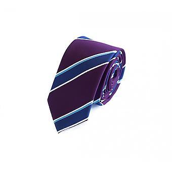 Tie tie tie tie 6cm purple blue Fabio Farini white striped