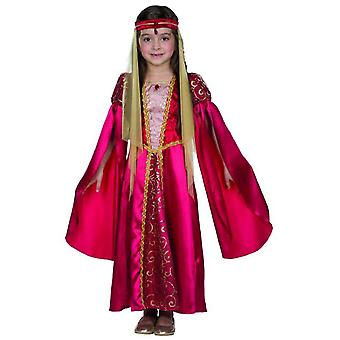 Mittelalter Prinzessin Kostüm rot Kinder Hofdame Burg Schloss Maid Fasching Renaissance Karneval Königin