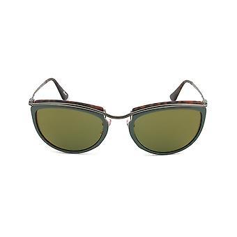 Gafas de sol de Persol PO3082S 1007/08 | Marco verde y mate la Habana | Lente de espejo verde oro