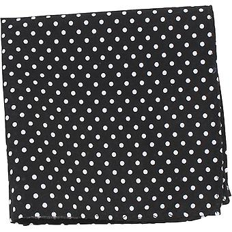 Knightsbridge Neckwear Polka Dot Pocket Square - Black/White