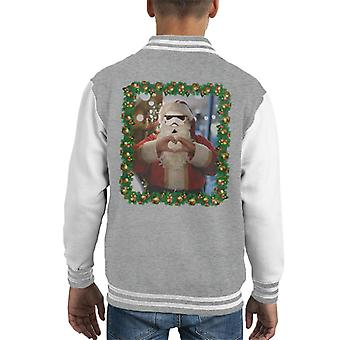 Original Stormtrooper Trooper Santa Christmas Kid Varsity Jacket